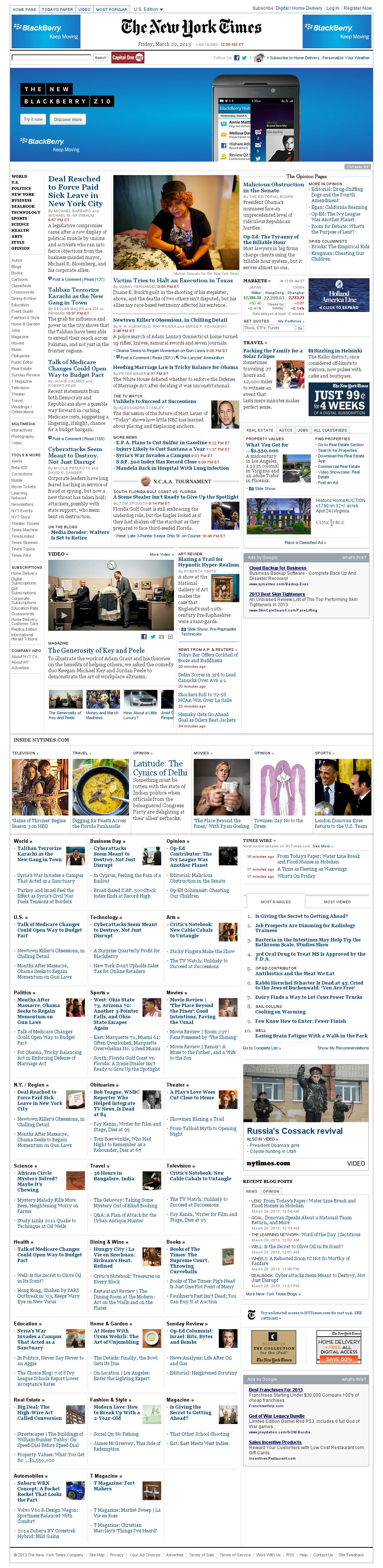 The New York Times at Friday March 29, 2013, 5:17 a.m. UTC