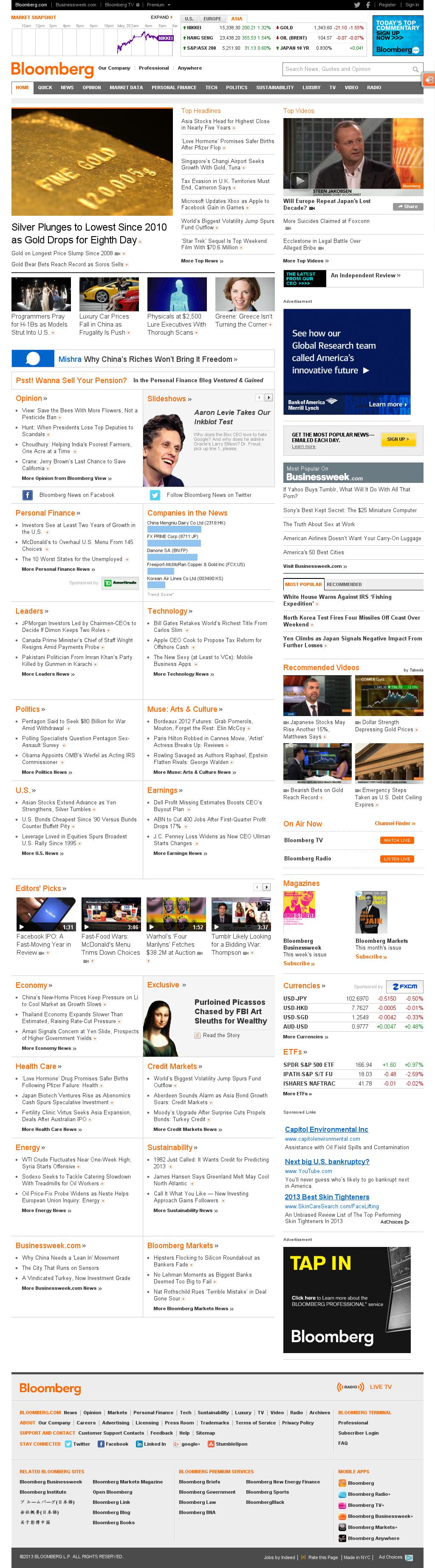 Bloomberg at Monday May 20, 2013, 6:01 a.m. UTC