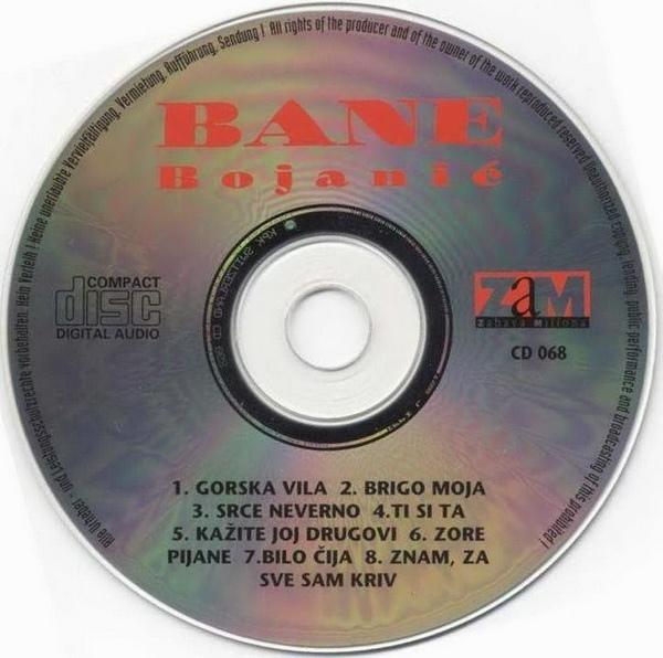 Bane Bojanic 1996 omot-cd
